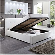 Suchergebnis auf Amazon.de für: Bett weiss hochglanz 200x200