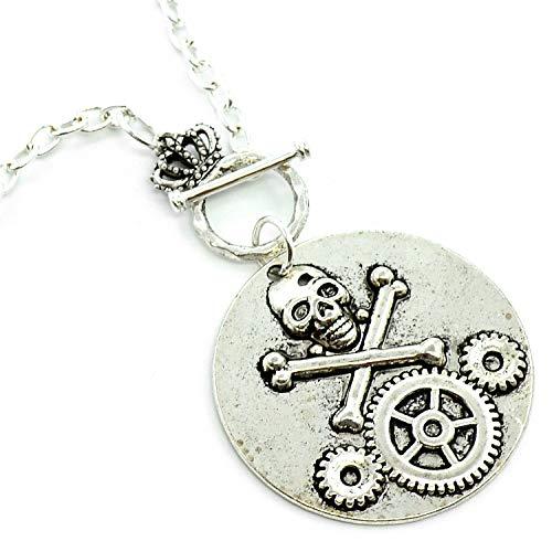 Running With Scissors Halskette mit Anhänger Steampunk Totenkopf -