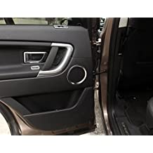 Coche Decoración Estilo 4piezas/juego de ABS cromado cubierta lateral puerta altavoz audio decoración círculo anillo accesorios para Land Rover Discovery Sport 2015–2017