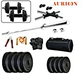 #6: Aurion Home Gym 30 KG Home gym & Fitness Kit With Combo Offer