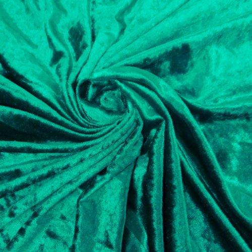 Stoff Basteln Kissen Vorhang Quilting Velvet Grün 58