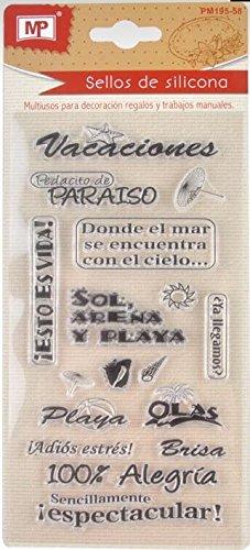 MP PM195-58 - Sellos para scrapbooking, transparente