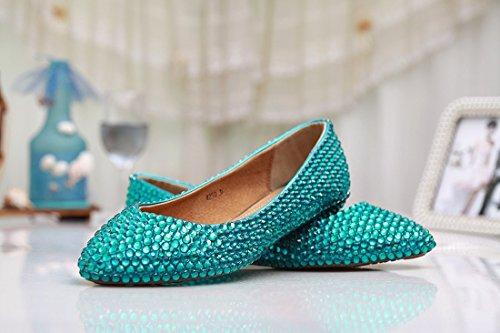Kevin Fashion , Ballet femme Vert - Green/Crystal