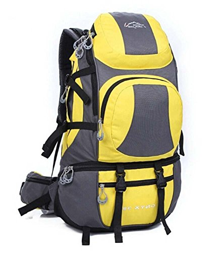 ShangYi Uomini e donne borsa a tracolla grande capacità impermeabile Zaini outdoor zaino 45L , lilac Yellow