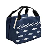 SWADEC Insulated Waterproof Lunch Tote Bag Fish Thermal Lunch Box for Adults, Kids