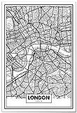 Panorama® Poster, dekorativer Druck, Karte von London 21 x