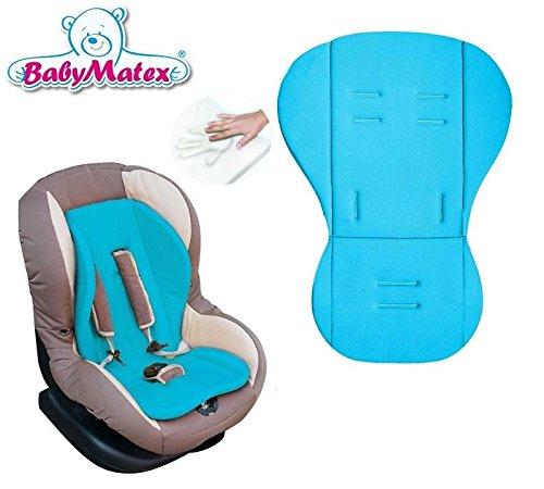 Preisvergleich Produktbild BabyMatex AERO LINE ** Thermoaktive MEMORY FOAM Sitzauflage / Sitzeinlage RENIS ** Universal für Babyschale, Autokindersitz, z.B. für Maxi-Cosi, Römer, für Kinderwagen o. Buggy etc. ** TÜRKIS **