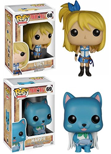 Funko POP! Fairy Tail: Lucy + Happy - Stylized Anime Vinyl Figure Set NEW