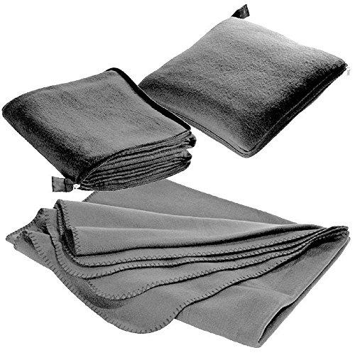 XL Fleecedecke und Kissen in einem, grau,