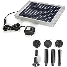 Bomba Agua Panel Energía Solar para Fuente Estanque 12V ...