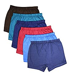 Elk Kids Baby Boys Plain Trouser Bloomer Innerwear 6 Piece Combo