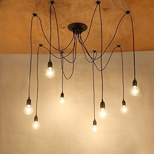 NetBoat Kronleuchter Pendelleuchten 8 Lichter Hängende Lampen Deckenbeleuchtung Schlafzimmer Wohnzimmer Esszimmer Beleuchtung