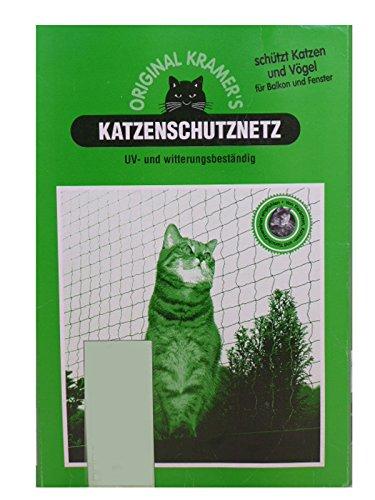 Unbekannt Kramer's Katzenschutznetz, 6 x 2,5 m, 3,5 x 3,5 cm Maschenweite, Transparent