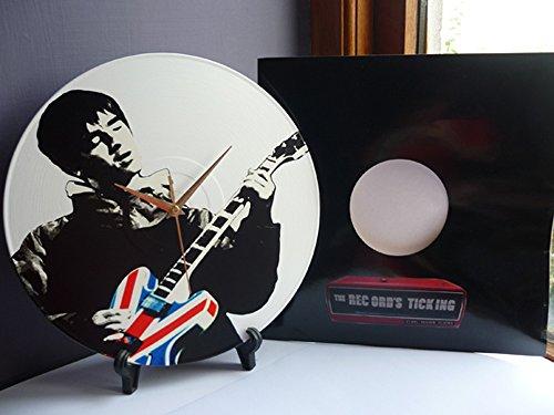 noel-gallagher-union-jack-epiphone-guitar-12-lp-vinyl-record-handmade-wall-clock