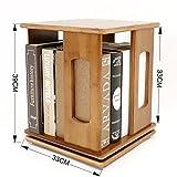 Desktop-Regale, Aufbewahrungsregale, Finishing-Rack, 360 ° drehbare Bücherregal Schreibtisch-Regal ( Farbe : A )