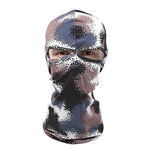AUTULET Tactical Hood Headwear Balaclava Full Face Cover For Sun Protection Fisherman Mask