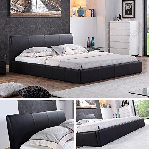 Bett schwarz - Designer Polsterbett 180 x 200 cm