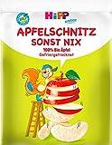Hipp Kinder Knabberprodukte, Apfelschnitz - sonst nix, 8er Pack (8 x 12g)
