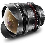 Walimex Pro 8 mm f/3,8 Fish-Eye Foto und Videoobjektiv (manuelle Fokussierung) für Canon Objektivbajonett