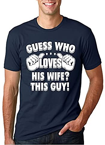 Newlywed Drôle - Crazy Dog TShirts - Guess Who Loves