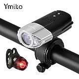 LED Fahrradbeleuchtung, Ymiko wiederaufladbar...