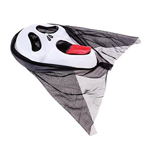 Maske mit schwarzer Kapuze - Farbe 4 (Familie Haloween Kostüme)