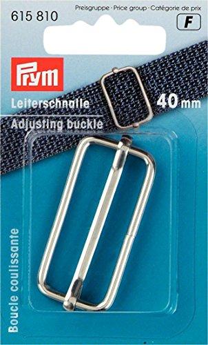 Prym Verstellbare Schnalle, Metall, Silberfarben, 40mm