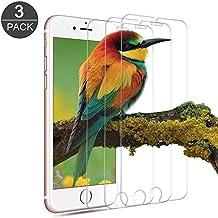 [3-Unidades] Protector de Pantalla iPhone 7 / 6s / 6, Vanzon Cristal Vidrio Templado Premium Para Apple iPhone 7 / iPhone 6s / iPhone 6 [9H Dureza][Alta Definicion 0.33mm] [3D Touch Compatibles]