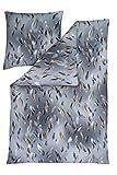 Estella Bettwäsche Interlock-Jersey Graphit Größe 155x220 cm (80x80 cm)