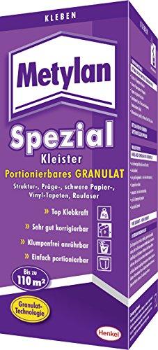 Metylan MS8G Spezial Kleister, portionierbares Granulat für Struktur-, Präge-, schwere Papier-, Vinyl-Tapeten und Raufaser