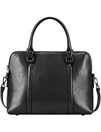 d2d02bf63151 S-ZONE Women s Genuine Leather Handbags Briefcase Purse Shoulder Bags Tote  Bag