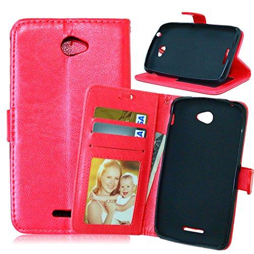Flip Jordan Farbe (Nancen Compatible with Handyhülle Sony Xperia E4 (5,0 Zoll) Lederhülle Style Acht Farbe Weich PU Flip Case Ledertasche/Schutz Etui, Karten Slot Foto Wallet Hülle)