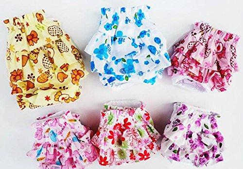 Dogs Kingdom 3Gut Hund klein Floral Windel Rock, weibliche Mädchen Sanitär Hose Kleid Unterwäsche für kleine Hunde Rasse (Hund Sanitär-kleider)