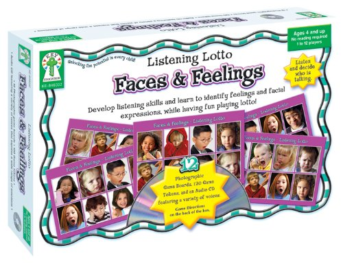 Faces and Feelings: Develop Listening Skills and Learn to Identify Feelings and Facial Expressions, While Having Fun Playing Lotto! (Listening Lotto)