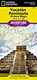 National Geographic Yucatan Peninsula Riviera Maya Adventure Travel Map: North America/Mexico [Lingua Inglese]