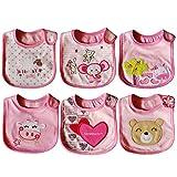FYGOOD Unisex - 6er Set Baby Lätzchen Mädchen Wasserdicht Babylätzchen Set D 3-36 Monate