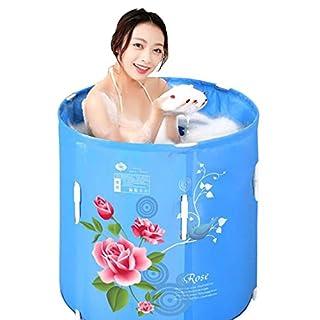 WYZ Verdickte aufblasbare Badewanne Erwachsene faltbare freie aufblasbare Badewanne-Hauptbaden-Badewanne-dickeres Kind-Waschbecken Klappbad (Farbe : B)