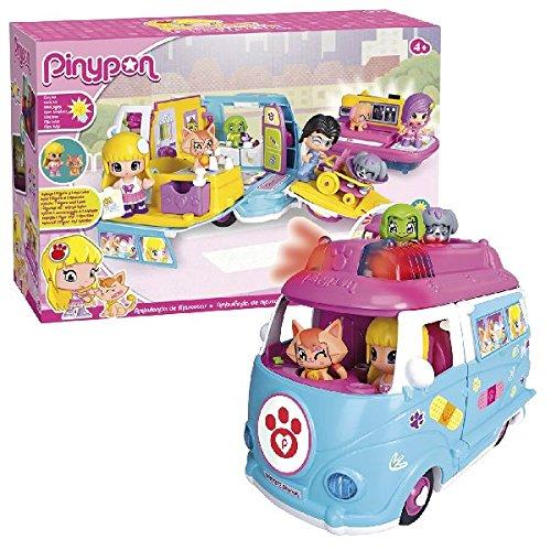 Pinypon Ambulancia de mascotas, muñeca y accesorios (Famosa...
