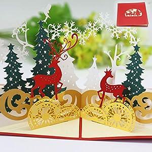Navidad Tarjetas,Tarjetas de Navidad 3D,Navidad