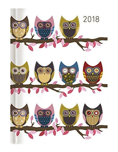 """'Agenda Semanal Ladytimer 2018""""búhos 10,7x 15,2cm"""