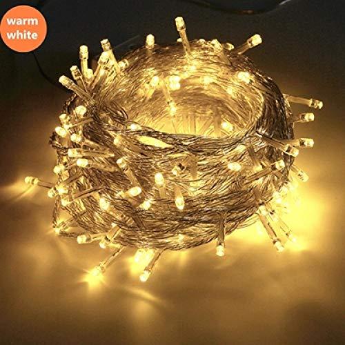 YAX Nachtlicht Nachtlampe 10M 100Led Schnur-Licht Weihnachten/Hochzeit/Party DekorationBeleuchtetgirlande Wechselstrom220V wasserdichte Geführte Lampe Im Freien 9 Farben G -