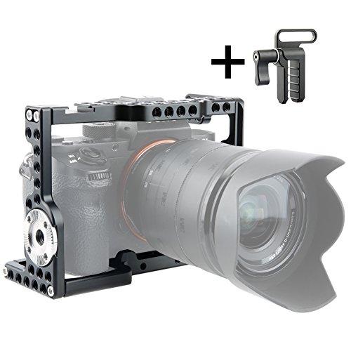 NICEYRIG A7 III/A7R III/A7R II/A7S II/A7 II Kamera Käfig mit HDMI  Kabelklemme Arri Style Rosette für Sony A7III/A7II/A7RII/A7SII/A7RIII/Kamera