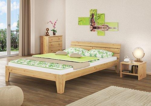 Erst-Holz 60.62-14 Futonbett mit Rollrost – 140×200 – Massivholz Natur