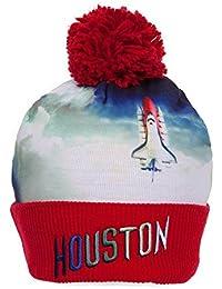 e0d53bb3d2751 Mitchell   Ness NBA Sublimation Beanie w Pom - Houston Rockets