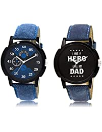 The Shopoholic Black Blue Combo Treny And Precious Black And Blue Dial Analog Watch For Boys Watch For Boys