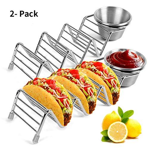 Taco Halter Edelstahl Shell Stand Racks Serviertabletts Party Platten für Brot Burger Taco 2St Platte Rack