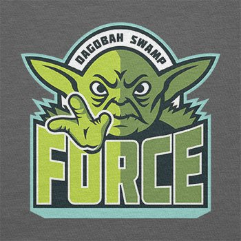 TEXLAB - Dagobah Swamp Force - Herren T-Shirt Grau