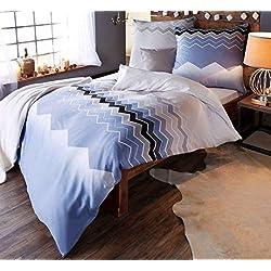 Casatex Mako-Satin Bettwäsche Cotton made in Africa mit Reißverschluss 135x200 80x80 (632004)