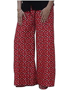 Indian Handicrfats Export DiscountZila Flared Women's Red Trousers