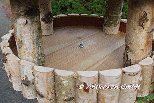 REETDACH VOGELVILLA MASUREN 4 BIRKE 180x57x57 Vogelhaus Futterhaus mit Ständer - 7